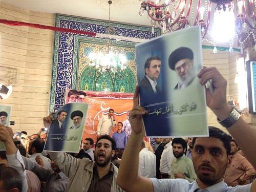 (تصویر) بازی جدید احمدی نژادی ها