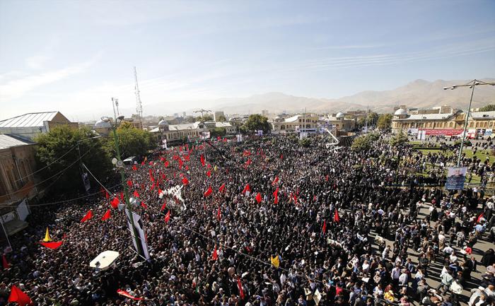(تصاویر) تشییع سردار همدانی در همدان