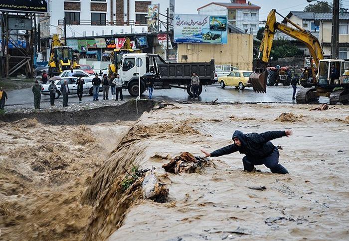 (تصاویر) سیل در گیلان و مازندران