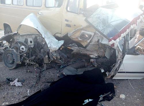 (تصاویر) تصادف مرگبار در جاده ساوه