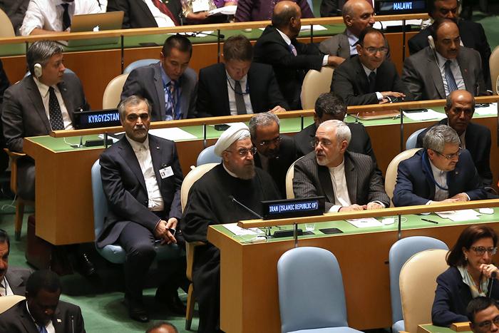 (تصاویر) روحانی در مقر سازمان ملل