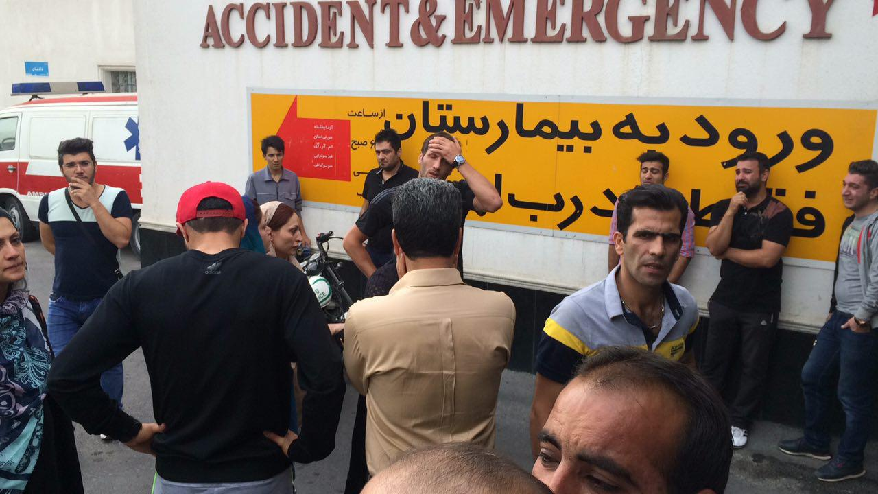 (تصویر) حضور پرسپولیسی ها در بیمارستان