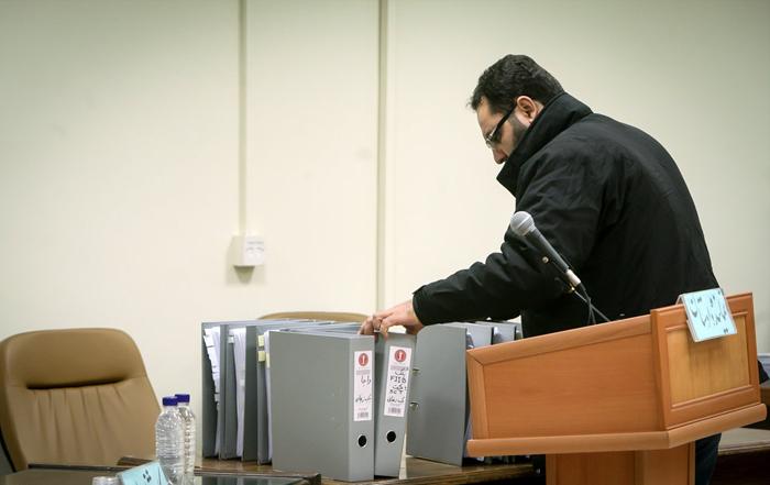 (تصاویر) بابک زنجانی با اسناد محرمانه آمد