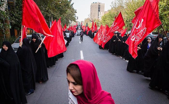 (تصاویر) راهپیمایی 13 آبان در تهران