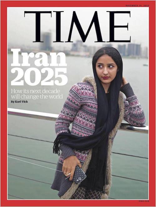 تصویر دختر ایرانی روی مجله «تایم»