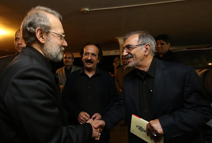 (تصاویر) لاریجانی در عزاداری خانه مجیدی