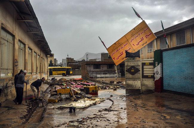 (تصاویر) خسارات سیل در ایلام