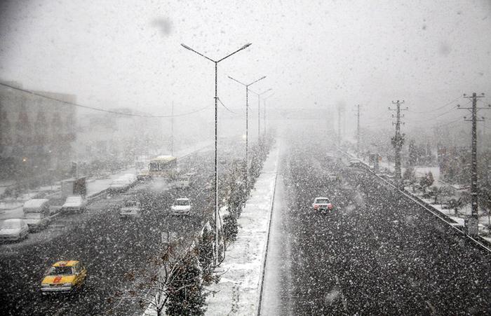 (تصاویر) بارش برف و سرما در کشور