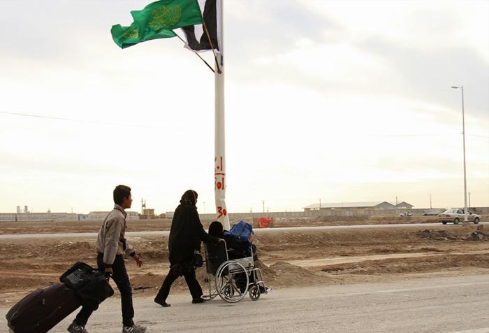 (تصاویر) زائران اربعین در مرز شلمچه