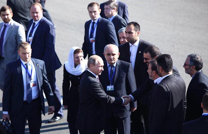 (تصاویر) ورود پوتین به تهران