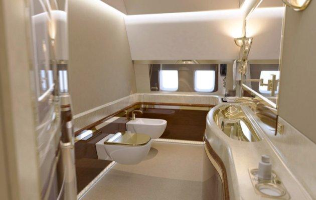 (تصاویر) داخل هواپیمای اختصاصی پوتین