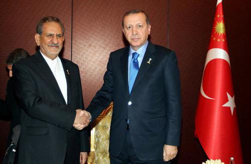 جهانگیری با اردوغان دیدار کرد