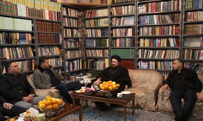 (تصاویر) دایی به دیدار سیدحسن خمینی رفت