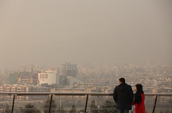 (تصاویر) آلودگی هوای تهران در وضعیت قرمز