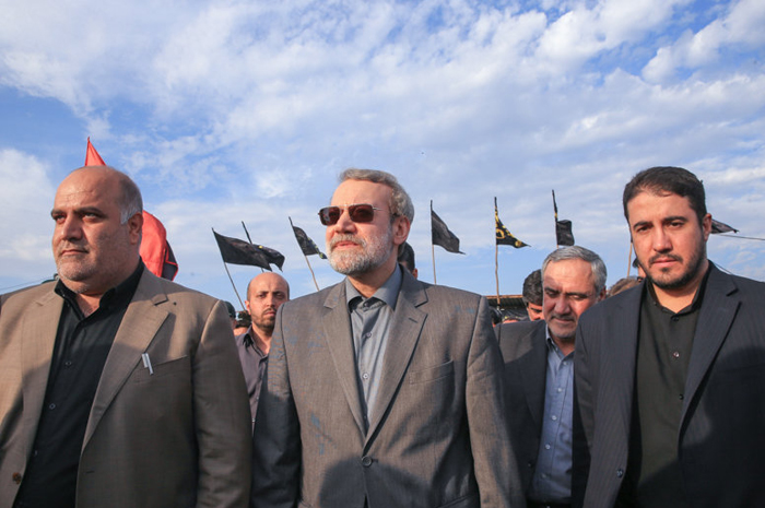 (تصاویر) لاریجانی در مرز مهران و شلمچه