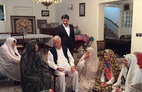 (تصویر) لحظه تحویل سال در منزل هاشمی