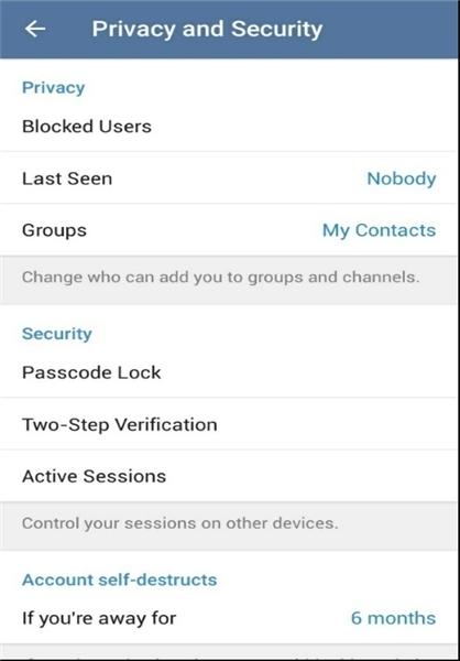 همه چیز درباره امنیت و حریم خصوصی در تلگرام