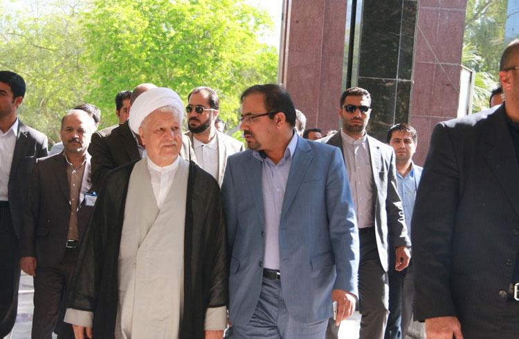 (تصاویر) سفر هاشمی رفسنجانی به عسلویه