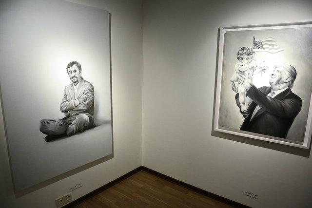 احمدینژاد و ترامپ در یک گالری در تهران