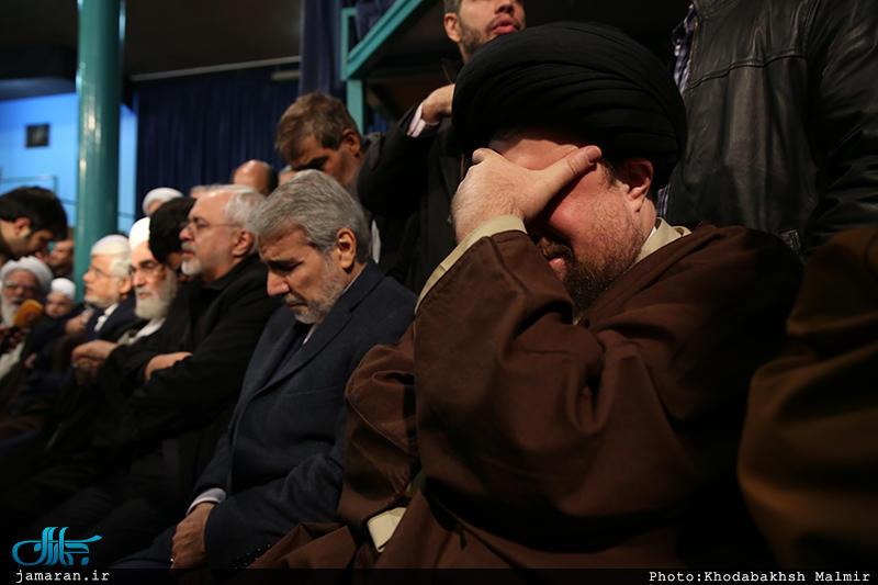 (تصاویر) گریه سیدحسن خمینی برای هاشمی