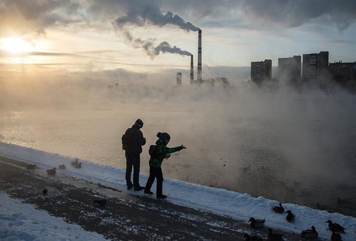 (تصاویر) سردترین زمستان قرن اخیر روسیه