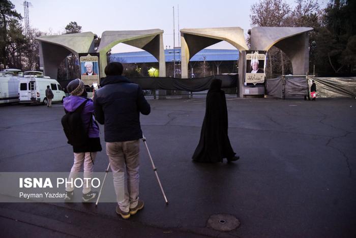 (تصاویر) خیابان انقلاب آماده تشییع هاشمی