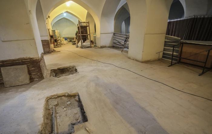 (تصاویر) سازه کشفشده زیر میدان امام اصفهان