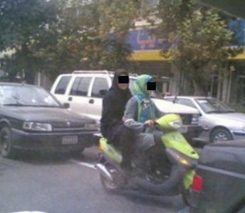 (عکس) دستگیری دختران موتور سوار دزفولی