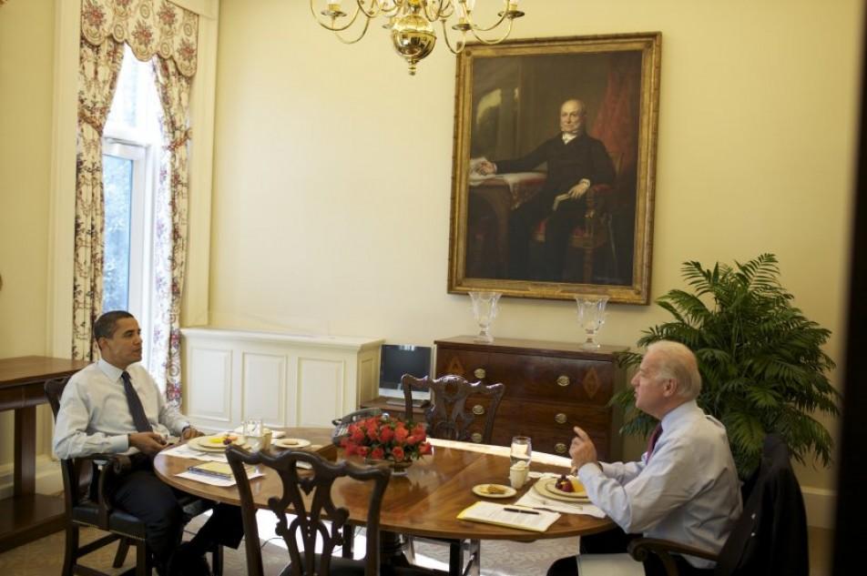 (تصاویر) هفته اول اوباما در کاخ سفید