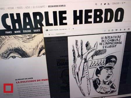 (عکس) شارلی ابدو برای پوتین آرزوی مرگ کرد