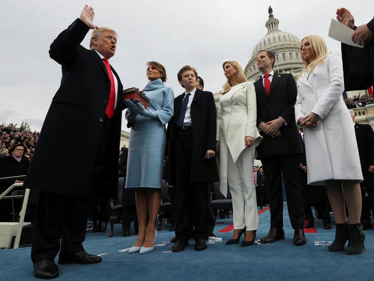 توپِ پُر ترامپ در اولین سخنرانی