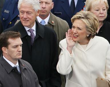 (تصاویر) هیلاری کلینتون در مراسم تحلیف ترامپ