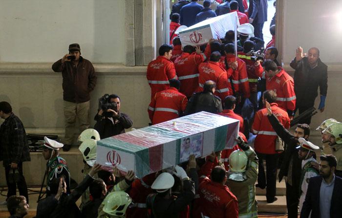 (تصاویر) تشییع باشکوه شهدای آتشنشان