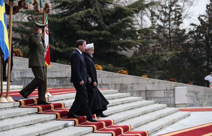 (تصاویر) استقبال روحانی از نخستوزیر سوئد