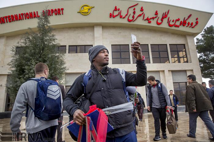 (تصاویر) استقبال از تیمکشتیامریکا در کرمانشاه