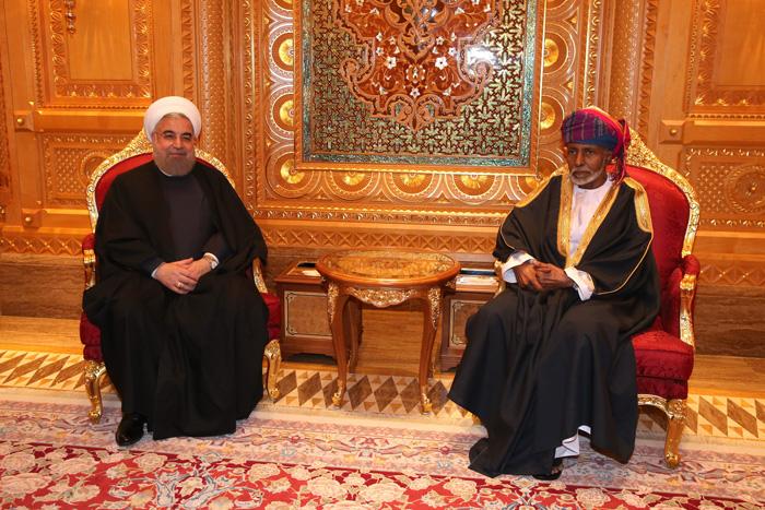 (تصاویر) استقبال از روحانی در عمان