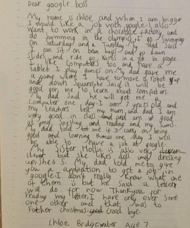 پاسخ مدیر گوگل به نامه خواندنی دختر 7 ساله