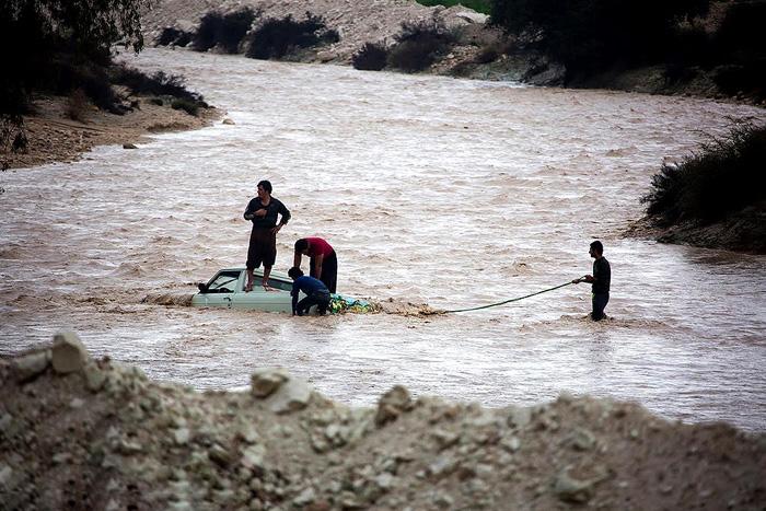 (تصاویر) سیل در فارس و هرمزگان