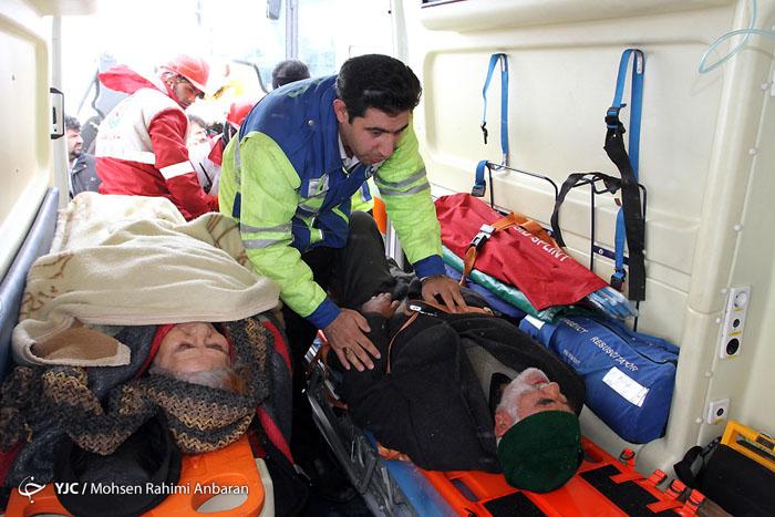 (تصاویر) واژگونی مرگبار اتوبوس بیرجند-مشهد