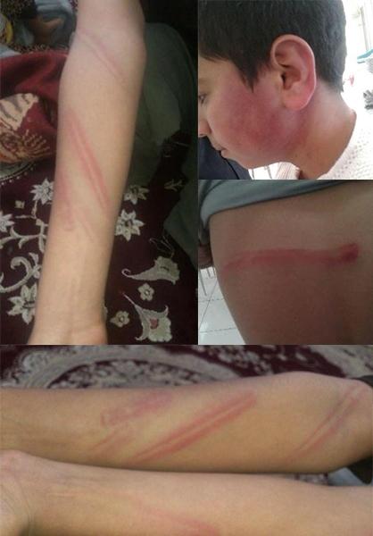 (عکس) کتک خوردن بی رحمانه دانش آموز در قائن