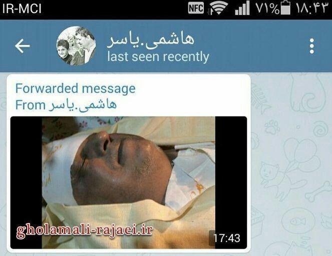 (تصویر) پیکر هاشمی لحظاتی قبل از خاکسپاری