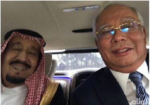 سلفی پادشاه عربستان و نخست وزیر مالزی