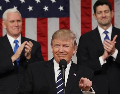 (تصاویر) اولین سخنرانی ترامپ در کنگره