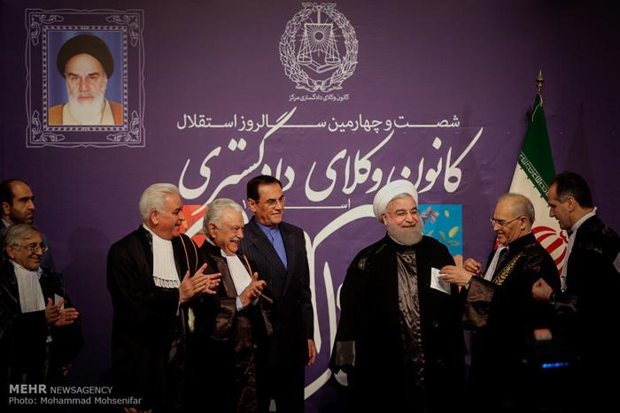 (تصاویر) ردای وکالت بر دوش حسن روحانی