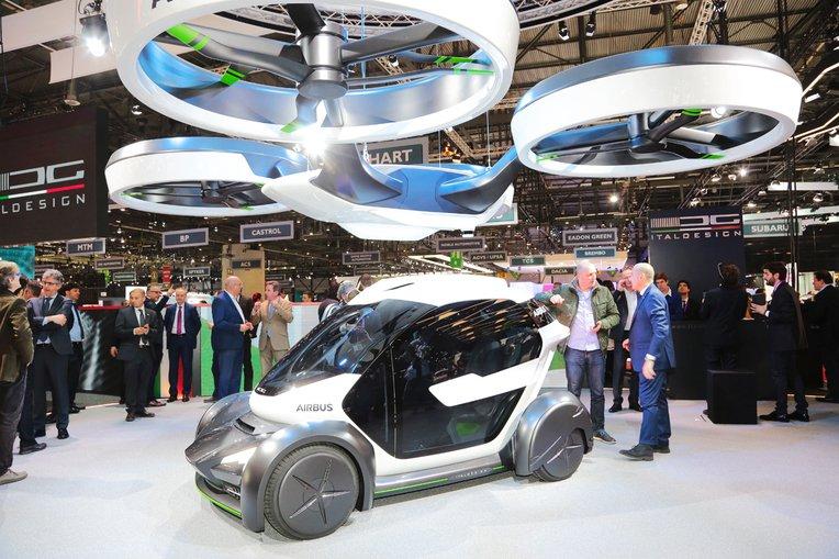 (تصاویر) رونمایی از خودروی پرنده ایرباس