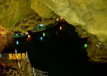 (تصاویر) غار آبی شگفتانگیز سهولان