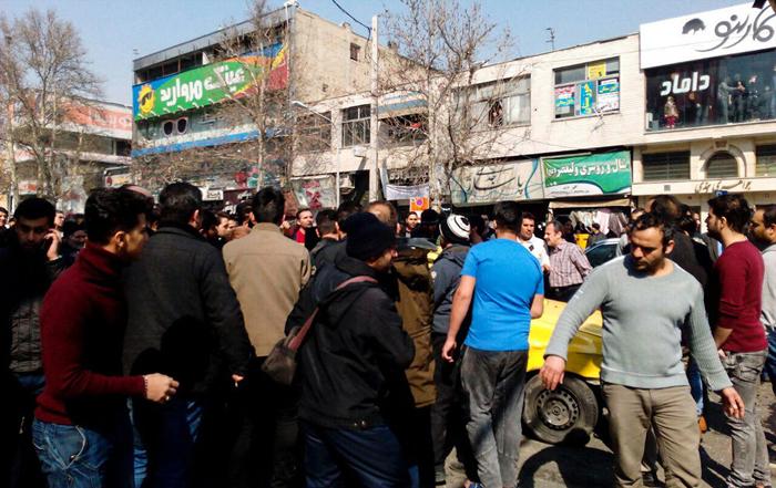 (تصاویر) برخورد اتوبوس با عابران پیاده در کرج
