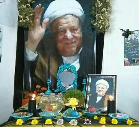 (عکس) سفره هفتسین خانه پدری آیت اله هاشمی