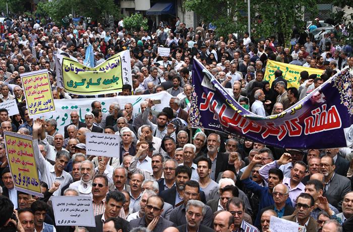 (تصاویر) راهپیمایی روز کارگر در تهران