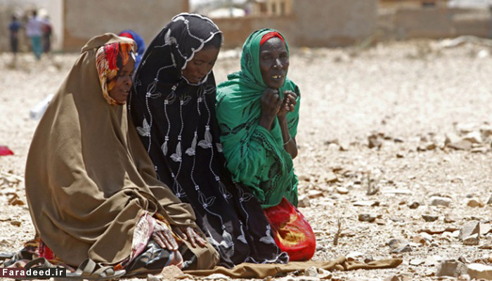 (تصاویر) سایه مرگ بر سر مردم سومالی